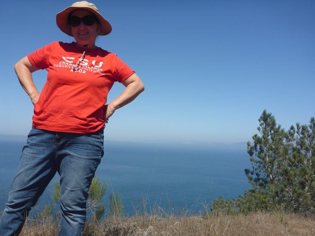Dr. Anderson on Santa Rosa Island
